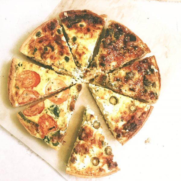 пирог киш четыре сыра