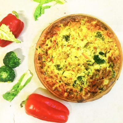 пирог киш с брокколи и цветной капустой